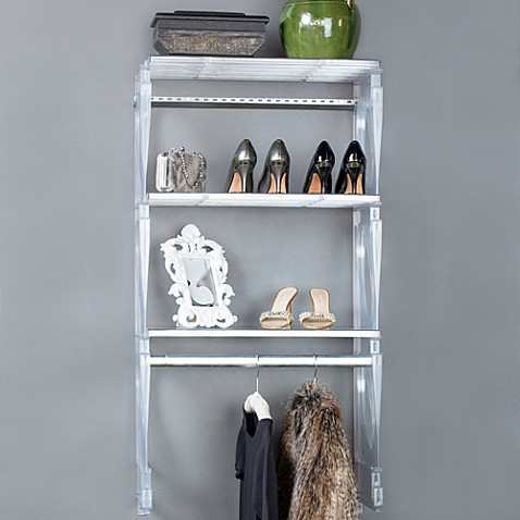 buy kio 2 foot closet and shelving kit in frost from bed