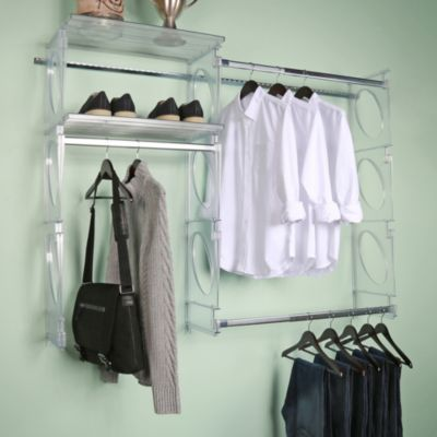 KiO Custom 5 Foot Closet And Shelving System In Frost