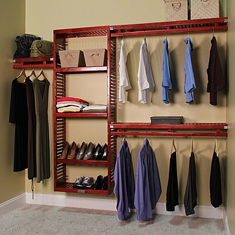 John Louis Home Simplicity Closet Organizer In Red