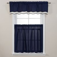 Pipeline 24-Inch Window Curtain Tier Pair in Navy