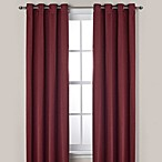 Ashton 84-Inch Grommet Top Room Darkening Window Curtain Panel in Wine
