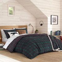 Eddie Bauer® Woodland Tartan Twin Duvet Cover Set in Pine Green