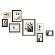 wall solution 8 piece gallery frame set in assorted finishes and sizes