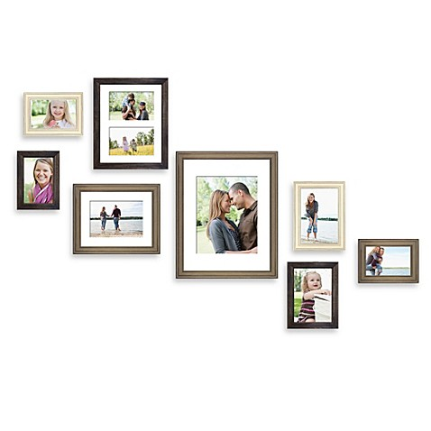 Wall Gallery Frame Set wall solution 8-piece gallery frame set in assorted finishes and