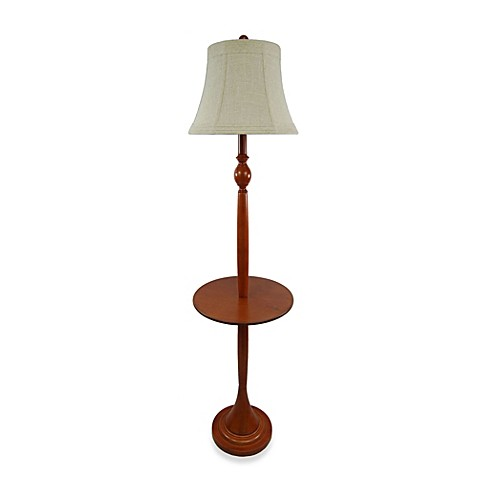 Wood tray floor lamp bed bath beyond for Floor lamp with gallery tray