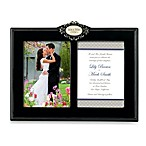 Mr. and Mrs. Ceramic 5-Inch x 7-Inch Double Wedding Invitation Frame