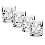 Top Shelf Hand Cut Crystal Bevel Double-Old Fashioned (Set of 4)