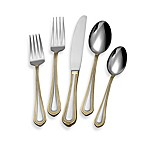 Mikasa® Regent Bead Gold 65-Piece Flatware Set