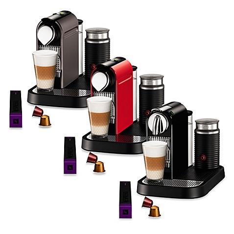 nespresso citiz u0026 milk espresso maker with aeroccino plus bundles