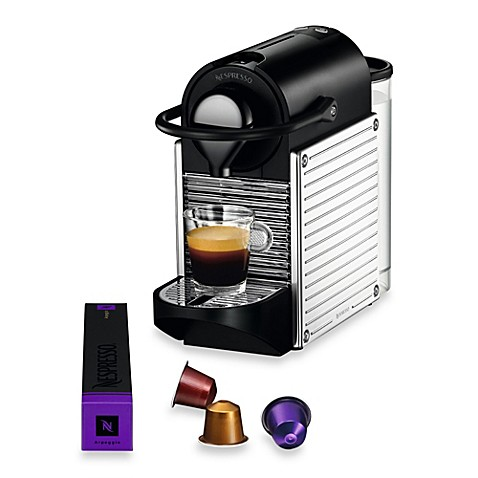 nespresso pixie c60 us ss ne espresso machine in chrome. Black Bedroom Furniture Sets. Home Design Ideas