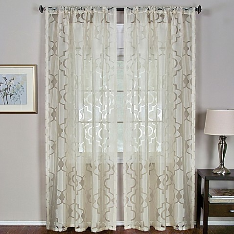 montego rod pocket window curtain panel bed bath amp beyond 85724