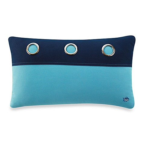 Buy Southern Tide Oblong Throw Pillow in Blue Topaz from Bed Bath & Beyond