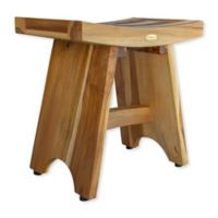 EcoDecors™ Serenity 18-Inch Teak Shower Stool in Natural