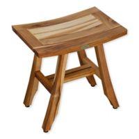 EcoDecors® EarthyTeak™ Satori 18-Inch Teak Shower Bench
