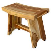 EcoDecors™ Serenity 24-Inch Teak Shower Bench in Natural
