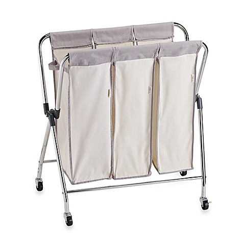 Real Simple 174 Triple Laundry Sorter Bed Bath Amp Beyond