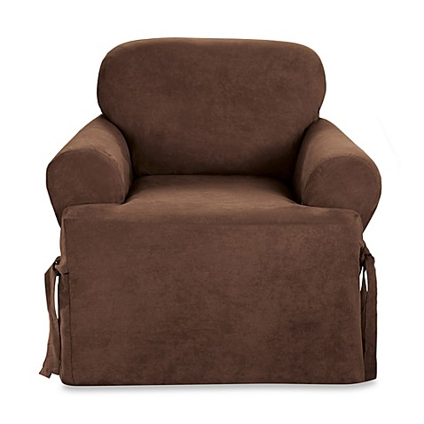 Sure Fit Soft Suede T Cushion Chair Slipcover Bed Bath