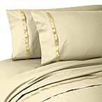 Waterford® Linens Kiley Standard Pillowcases in Wheat (Set of 2)