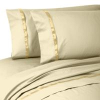 Waterford® Linens Kiley Queen Sheet Set in Wheat