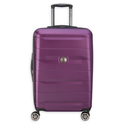 e7dca19314fd DELSEY PARIS Comete 2.0 24-Inch Expandable Hardside Spinner Checked Luggage  in Plum