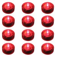 Submersible Flameless LED Lights in Red (Set of 12)