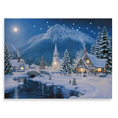 Battery Christmas Lights Amazon Illuminart Christmas Village Wall Art - Bed Bath & Beyond