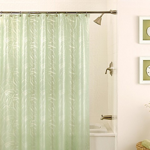 Plantain 70 Inch X 72 Inch Shower Curtain In Green Bed