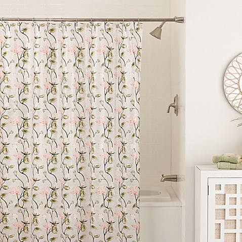 Zen Floral 70 Inch X 72 Inch Shower Curtain