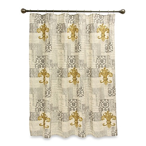 Extra Long Shower Curtain Rod Fleur De Lis Bathroom Hard