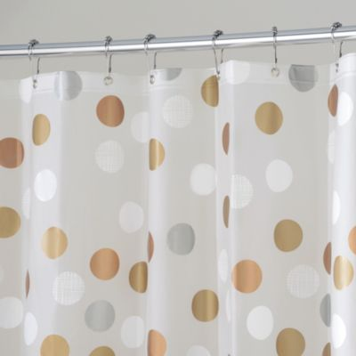 white and silver shower curtain. InterDesign  Gilly Dot 72 Inch x Shower Curtain Buy White Silver from Bed Bath Beyond