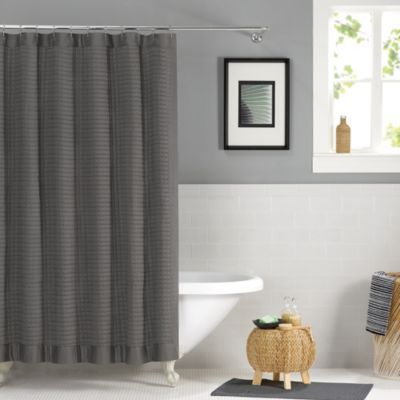 Real Simple® Retreat 72-Inch x 96-Inch Shower Curtain in Grey - Buy 72