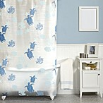 India Ink Solomon Islands 70-Inch x 72-Inch Shower Curtain in Blue