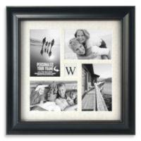 Malden® Barnside 4-Opening Monogram Picture Frame in Black