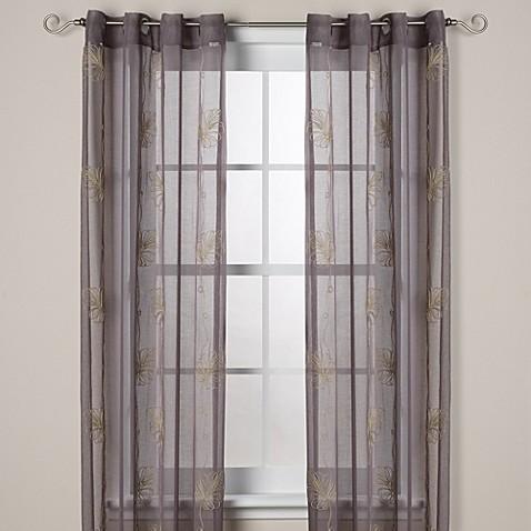 J Queen New York Islander Sheer Grommet Window Curtain Panels Bed Bath Beyond
