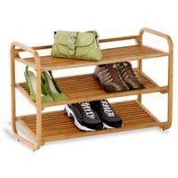 Deluxe 3-Tier Bamboo Shoe Rack