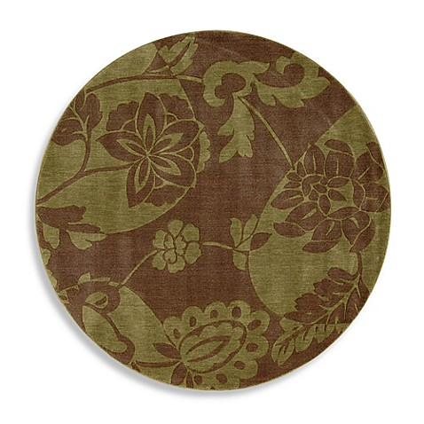 Somerset 5-Foot 6-Inch Round Rug in Brown