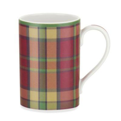 spode glen lodge tartan red mug set of 4
