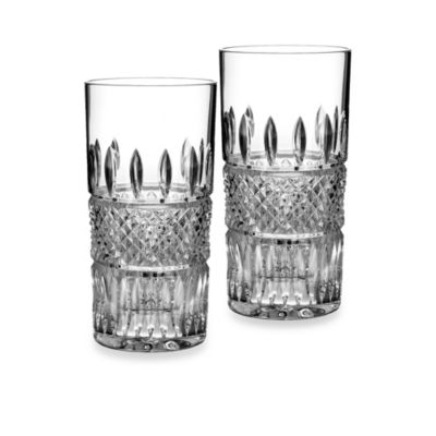 waterford irish lace crystal highball glass set of 2 - Highball Glasses