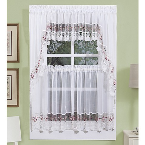 Vintage Curtains And Valances In White Rose Bed Bath