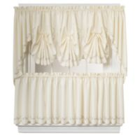 Forget-Me-Not 24-Inch Window Curtain Tier Pair in Ecru/Rose