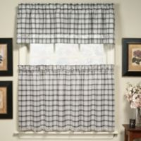 Dover Window Curtain Valance in Black