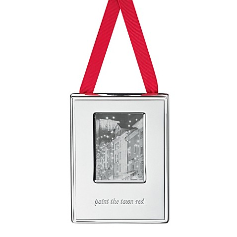 Kate Spade New York Silver Street Paint The Town Red Frame Ornament