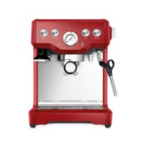 Breville® Infuser™ BES840CBXL Espresso Machine in Cranberry Red