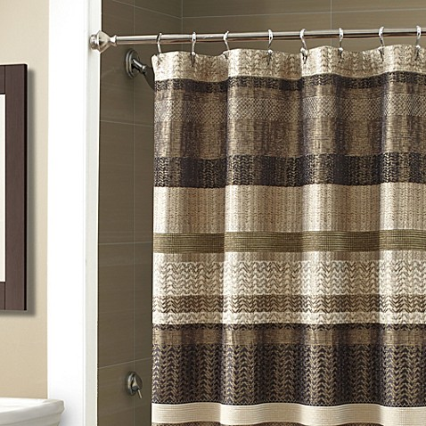 Croscill® Portland 54-Inch x 78-Inch Stall Shower Curtain in Black ...
