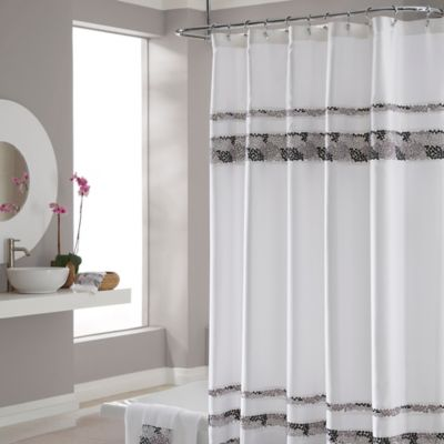 CroscillR Deco Bain Tile 54 Inch X 78 Shower Curtain