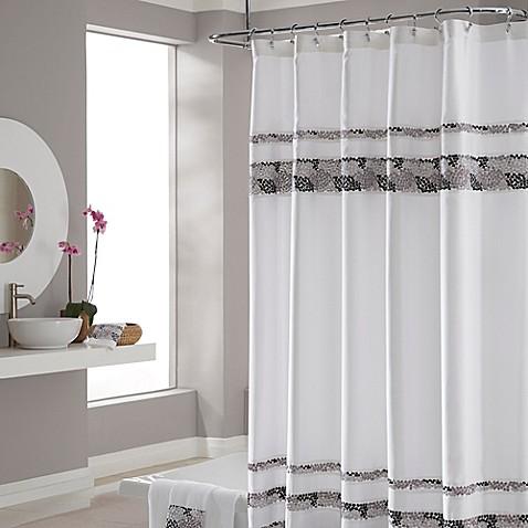 Croscill 174 Deco Bain Tile Shower Curtain Bed Bath Amp Beyond