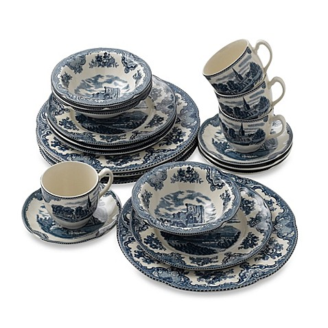 Johnson Brothers Old British Castles 20-Piece Dinnerware Set  sc 1 st  Bed Bath u0026 Beyond : old british castles dinnerware - Pezcame.Com
