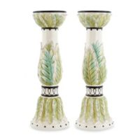 Fitz and Floyd® Cockatoo 14-Inch Candle Holders (Set of 2)