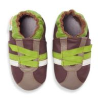 MomoBaby Size 0-6 Months Z-Strap Soft Sole Leather Shoes in Brown