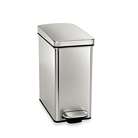 simplehuman 10 liter profile step wastebasket bed bath beyond
